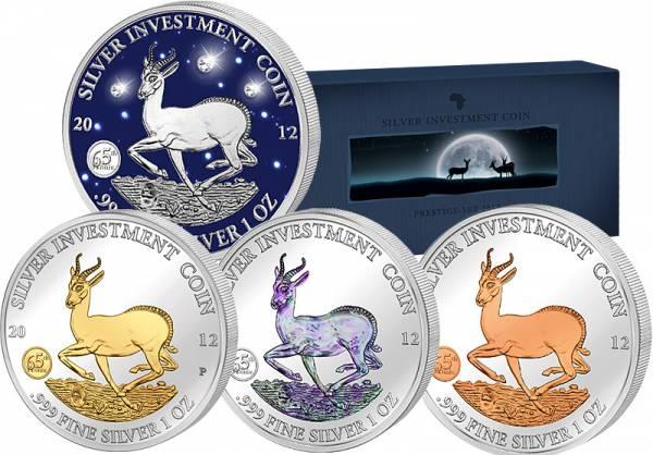 Silver Investment Coin Prestige-Set Springbock 2012