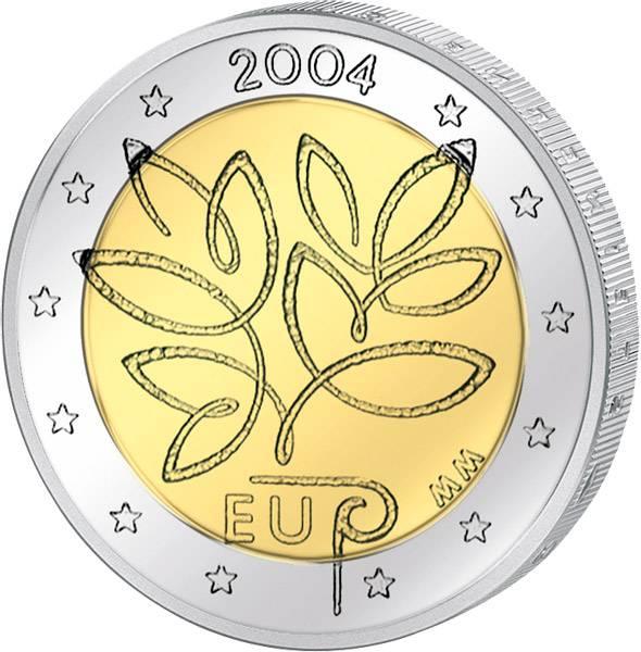2 Euro Finnland EU-Erweiterung 2004 prägefrisch