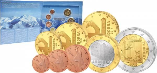 Euro-Kursmünzensatz Andorra