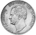 Taler Doppeltaler Heinrich 1840  vorzüglich