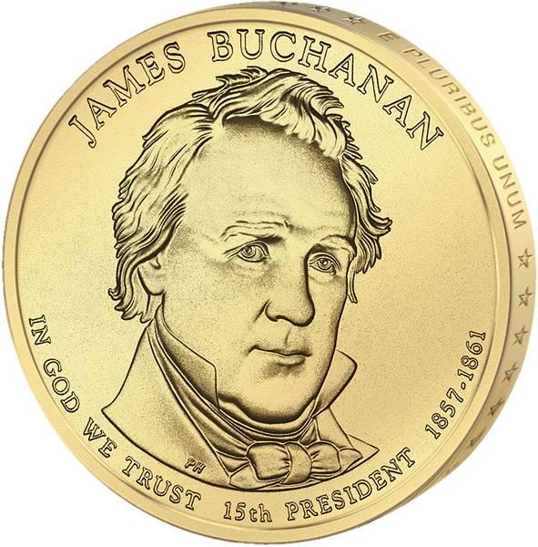 1 Dollar USA James Buchanan 2010 Stempelglanz
