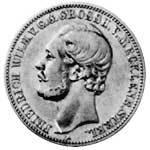 2 Mark Mecklenburg-Strelitz Friedrich Wilhelm IV. 1877 s-ss