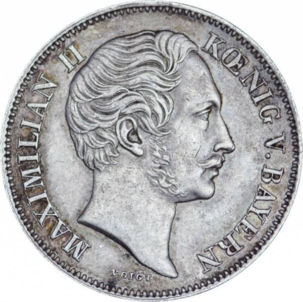 1/2 Gulden Bayern König Maximilian II. 1848-1864 ss-vz