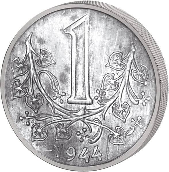1 Krone Protektorat Böhmen und Mähren 1941-44 Sehr schön