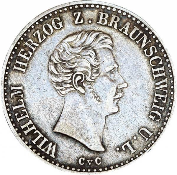 Taler Braunschweig Herzog Wilhelm 1839 - 1850