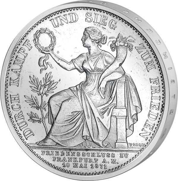 Siegestaler Bayern König Ludwig Ll 1871 Bayern Königreich