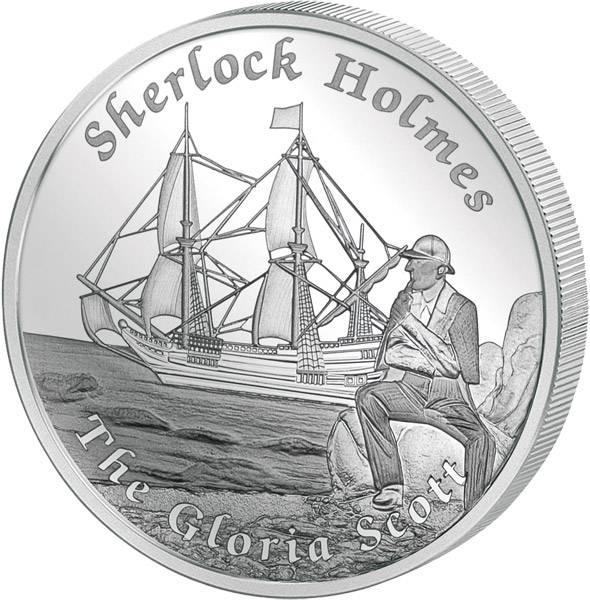 1 Dollar Tuvalu Berühmte Schiffe, die nie segelten Gloria Scott 2014  Polierte Platte