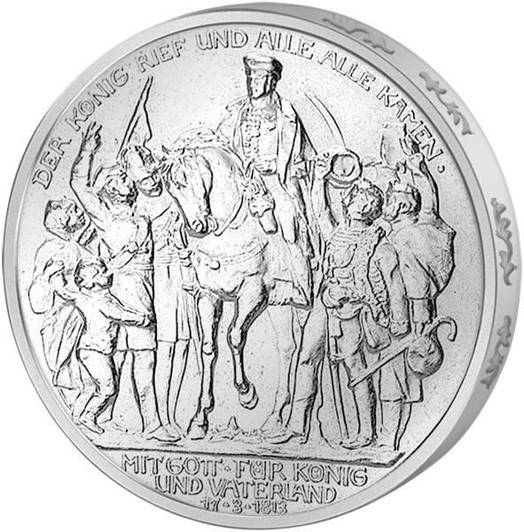 3 Mark Preußen Befreiungskriege 1913 Vorzüglich