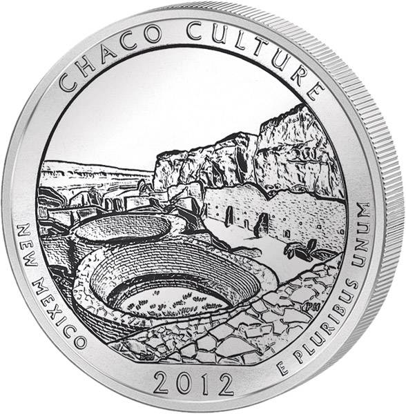 Quarter Dollar USA New Mexiko Chaco Culture 2012 prägefrisch