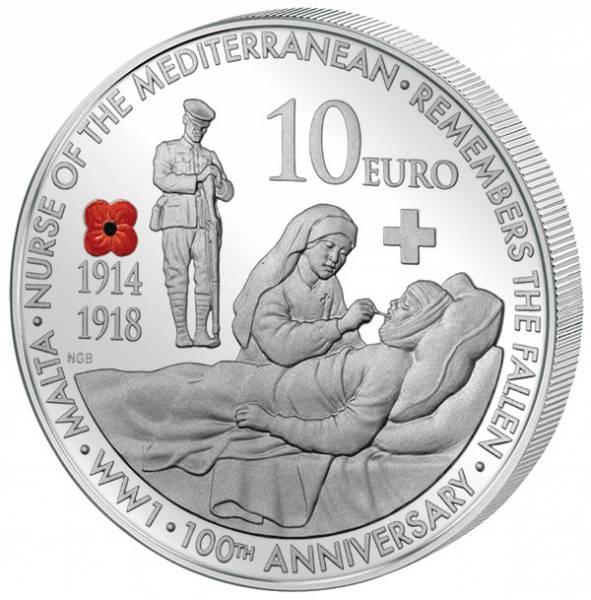 10 Euro Malta WWI - Pflege der Verwundeten 2014
