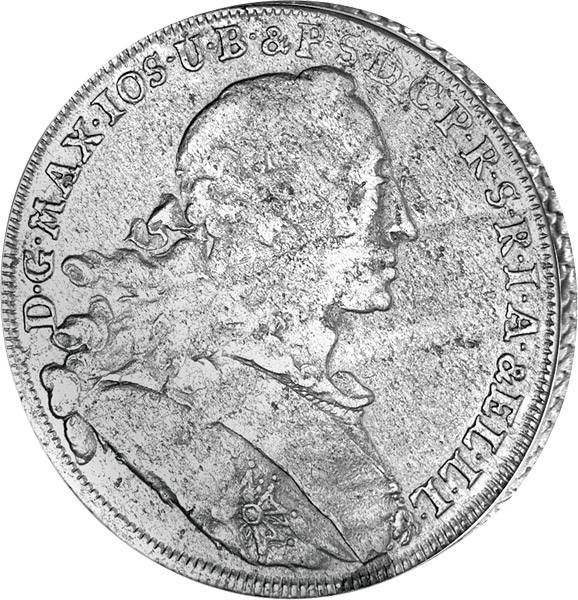 Wappentaler Bayern Maximilian III. Joseph 1753-59   sehr schön