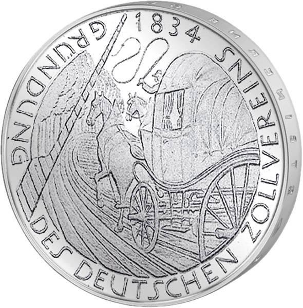 5 DM BRD 150 Jahre Zollverein