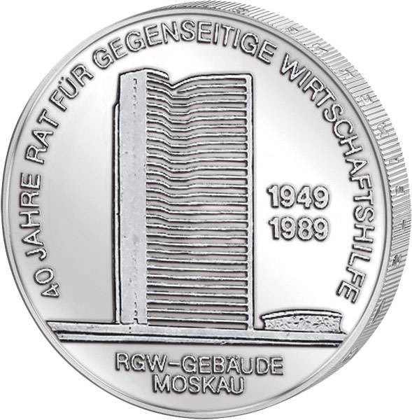 10 Mark  40 Jahre RGW 1989 A Stempelglanz