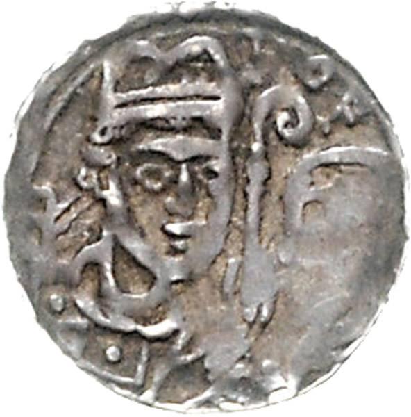 Denar Bischof Rudolf von Zähringen 1167-1191 Belgien, Bistum Lüttich, ss