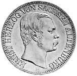 Vereinstaler Silber Ernst Herzog von Sachsen-Altenburg 1858