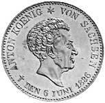 Taler Ausbeutekonventionstaler Anton 1836 Vorzüglich
