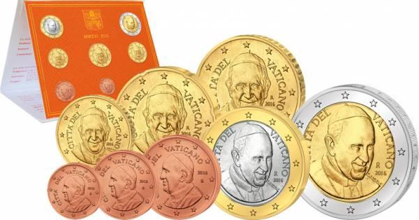 Euro-Kursmünzensatz Vatikan 2016