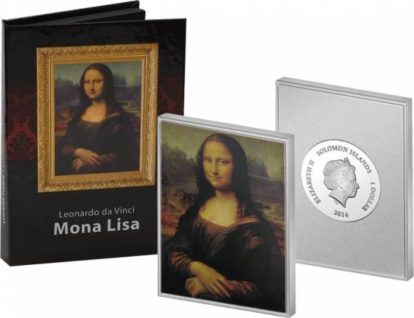 1 Dollar Salomonen Leonardo da Vinci 2014 Polierte Platte