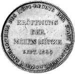 Taler Doppeltaler Münzrecht 1840  vorzüglich