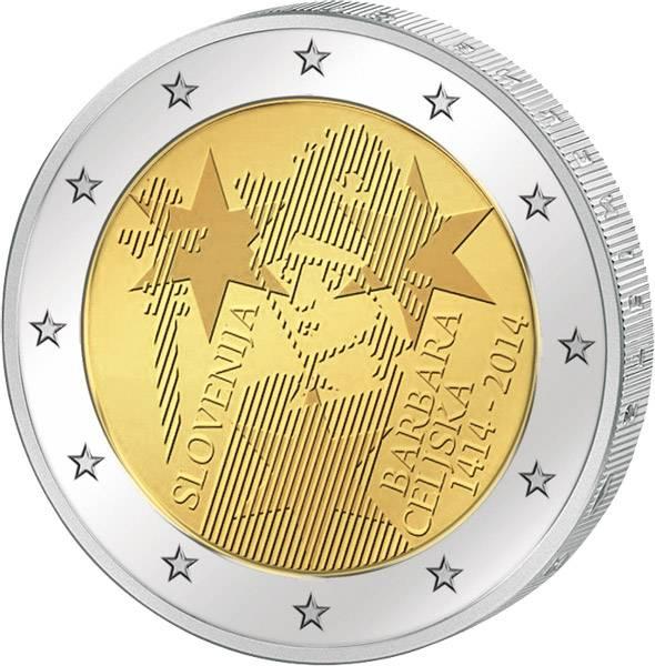 2 Euro Slowenien 600. Jahrestag der Krönung von Barbara Cilli 2014   prägefrisch