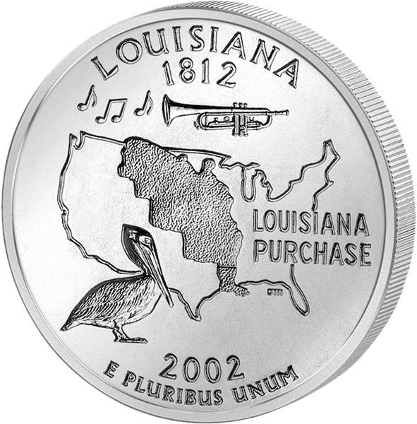 Quarter Dollar USA Louisiana 2002