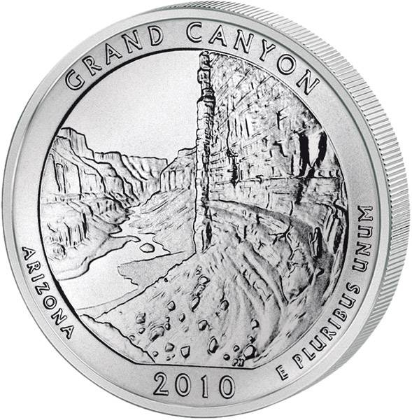 Quarter Dollar USA Arizona Grand Canyon 2010
