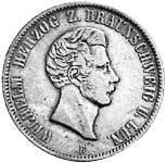 Taler Silber Wilhelm Herzog z. Braunschweig 1853-55 sehr schön - vorzüglich
