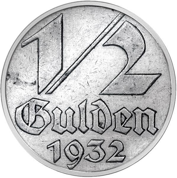 1/2 Gulden Wappen von Danzig