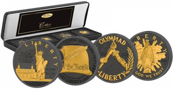 4 x 1 Dollar USA Gedenkmünzen-Set Golden Enigma