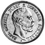 2 Mark Schwarzburg-Sondershausen Karl Günther 1896 Sehr schön