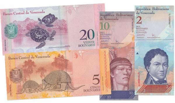 2 - 20 Bolivares Fuertes Venezuela Nationalhelden/Tiere 2007-2008 bankfrisch