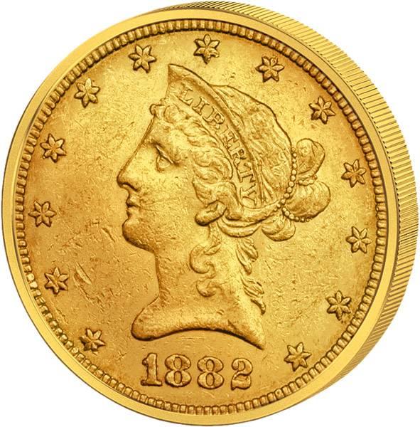 10 Dollars USA Liberty-Kopf 1839-1907 ss-vz