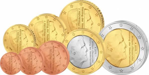 Euro-Kursmünzensatz Niederlande ab 2014 prägefrisch