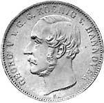 Taler Ausbeutetaler Georg V. 1852-1856  ss-Vorzüglich