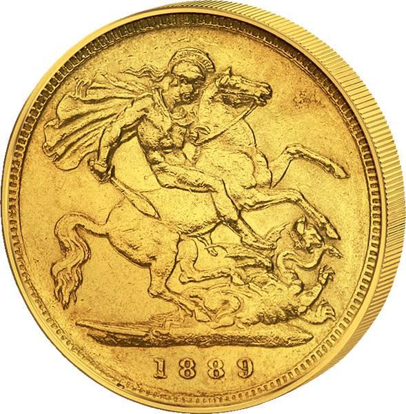 1 Sovereign Großbritannien  Queen Victoria 1887-1893 sehr schön