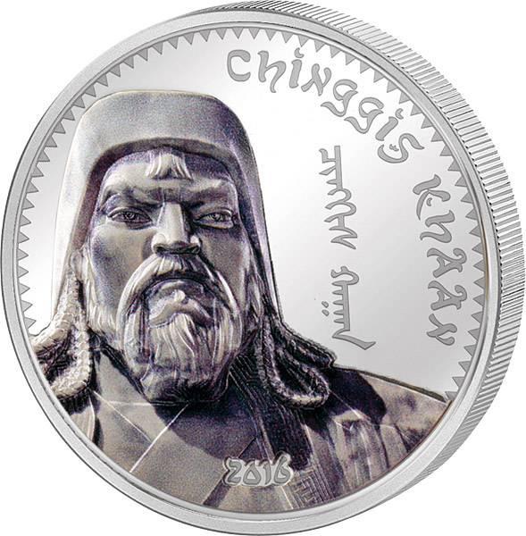 1.000 Togrog Mongolei Dschingis Khan