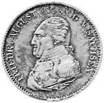 Taler Ausbeutekonventionstaler Friedrich August 1822-1823 Sehr schön
