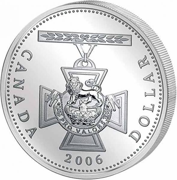 1 Dollar Kanada The Victoria Cross 2006 Polierte Platte