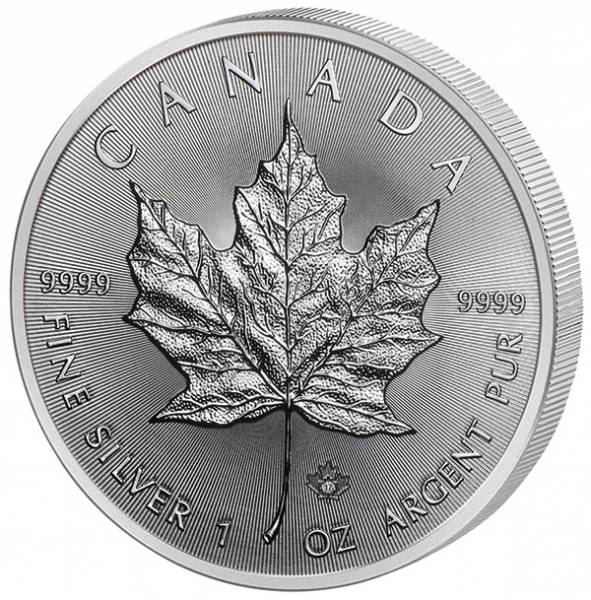 1 Unze Silber Kanada Maple Leaf 2017