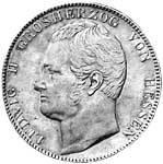 Doppeltaler Silber Ludwig II. von Hessen 1844 ss-vz