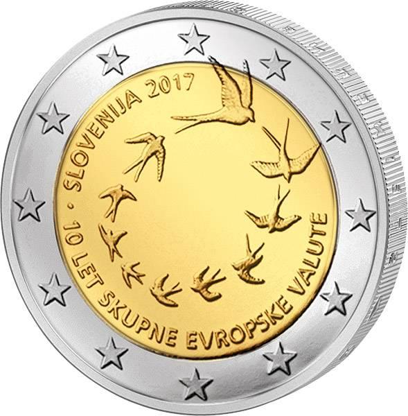 2 Euro Slowenien 10. Jahrestag der Euroeinführung Slowenien 2017