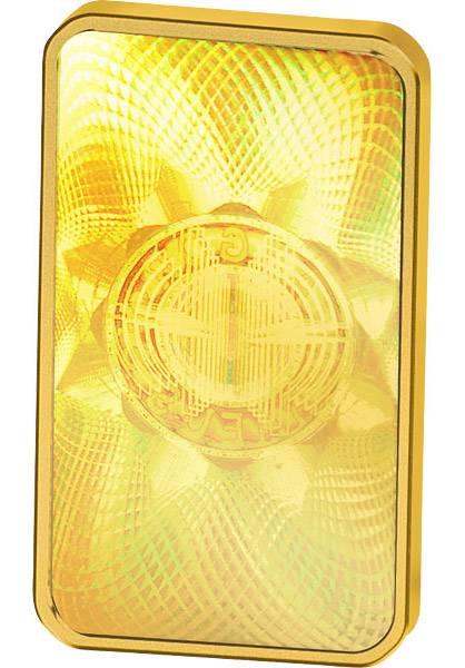 5 Gramm Goldbarren Kinebar Stempelglanz