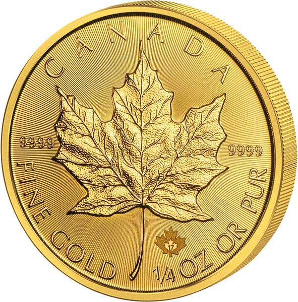 1/4 Unze Gold Kanada Maple Leaf 2017