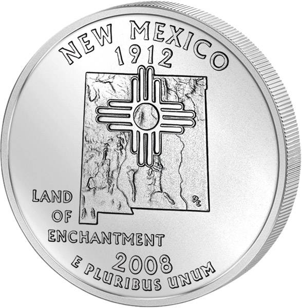 Quarter Dollar USA New Mexiko 2008