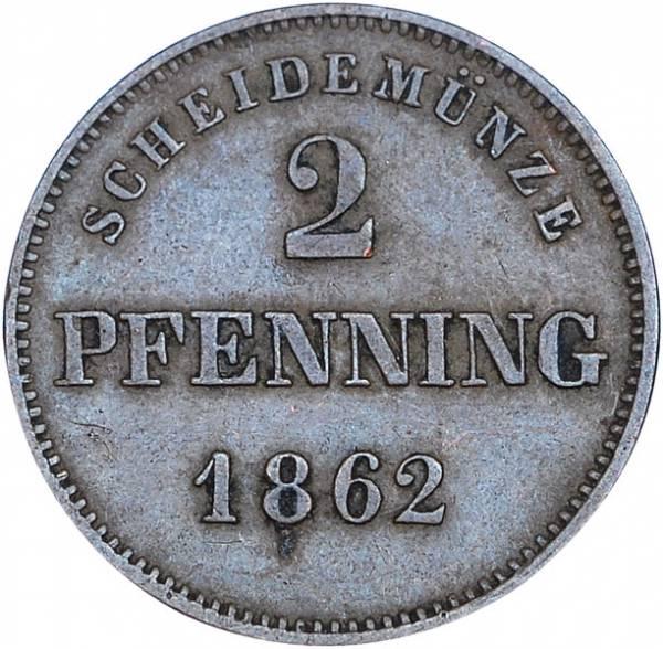 2 Pfennig Bayern König Maximilian  II. 1858 - 1864