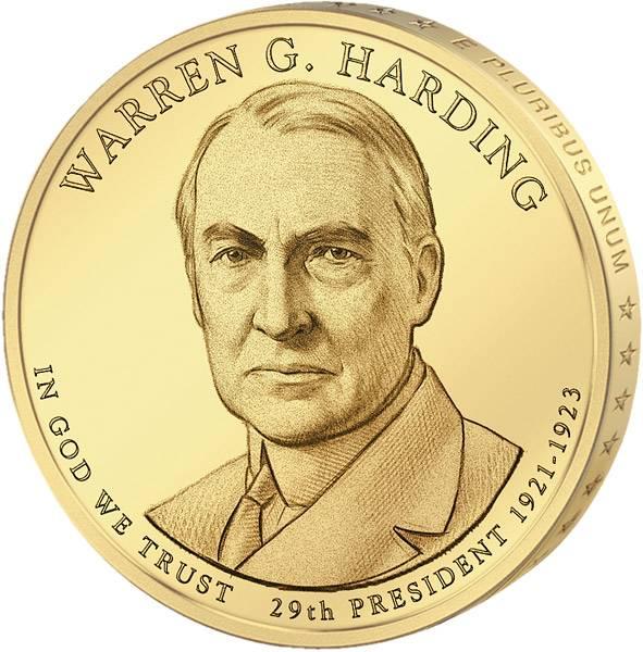1 Dollar USA Warren Harding 2014 Stempelglanz