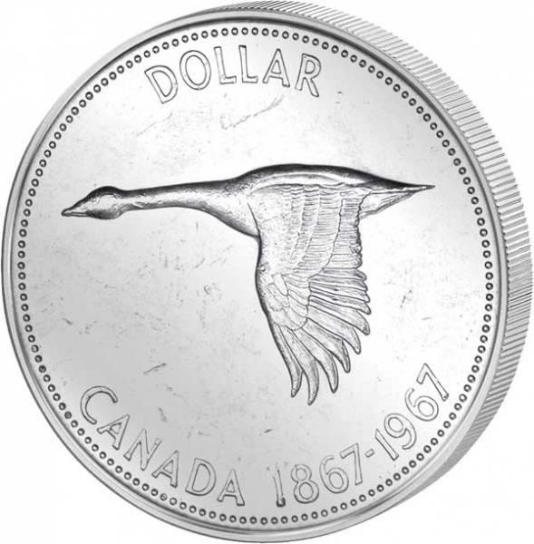 1 Dollar Silberdollar Wildgans 1967  vz-st
