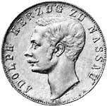 Vereinstaler Silber Nassau Herzog Adolph 1859-1860 ss