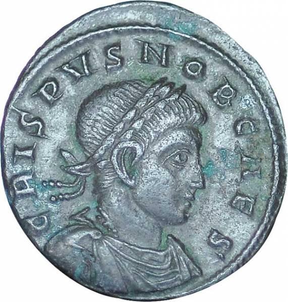 Mittel-Follis Prinz Crispus 308-324 n.Chr. Sehr schön