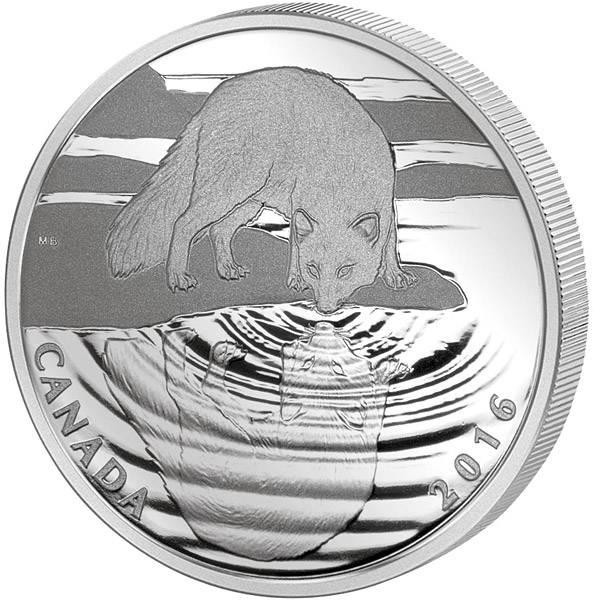 10 Dollars Kanada Reflections of Wildlife Polarfuchs